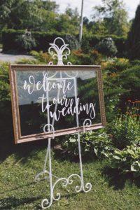 Willkommensschild Hochzeit Bilderrahmen