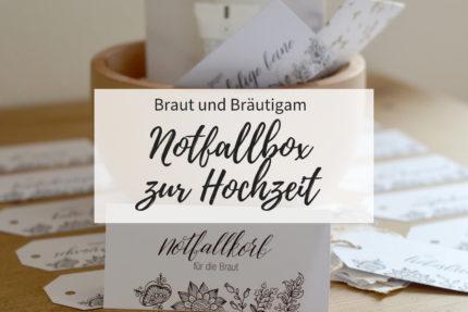 Notfallkorb Hochzeit, Notfallkorb Braut, Bräutigam Survival Kit