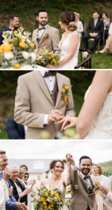 Hochzeit im Grünen, Hochzeit elegant, Hochzeit grün, Hochzeit gelb, Hochzeit gold, Hochzeit draußen, Trauung im Freien