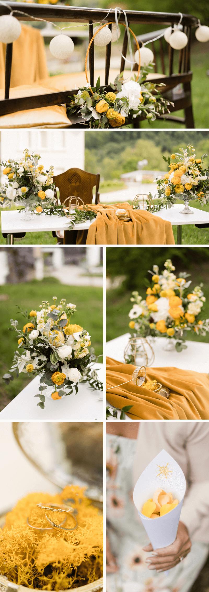 Elegante Hochzeit Im Grünen Hochzeit Gelb