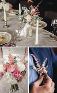 Hochzeit Astilben, Brautstrauß Astilben, Hochzeitsblumen, Hochzeit Rosa, Hochzeit Vintage, Prachtspiere Hochzeit