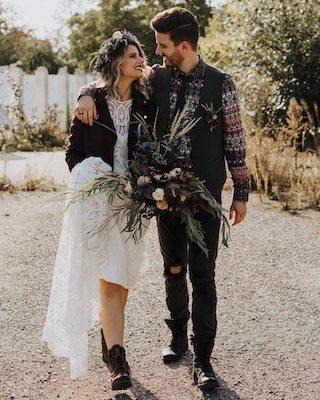 Edgy Love rockige Hochzeit