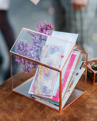 Glashaus Hochzeit Kartenbox