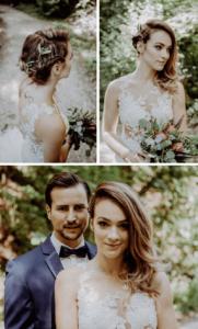 Brautfrisur seitlich geflochten