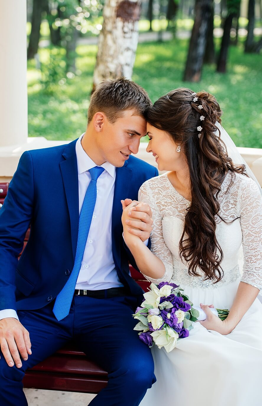 Brautfrisur seitlich halboffen