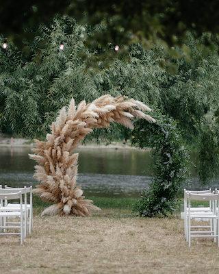 Hochzeit mit Pampasgras