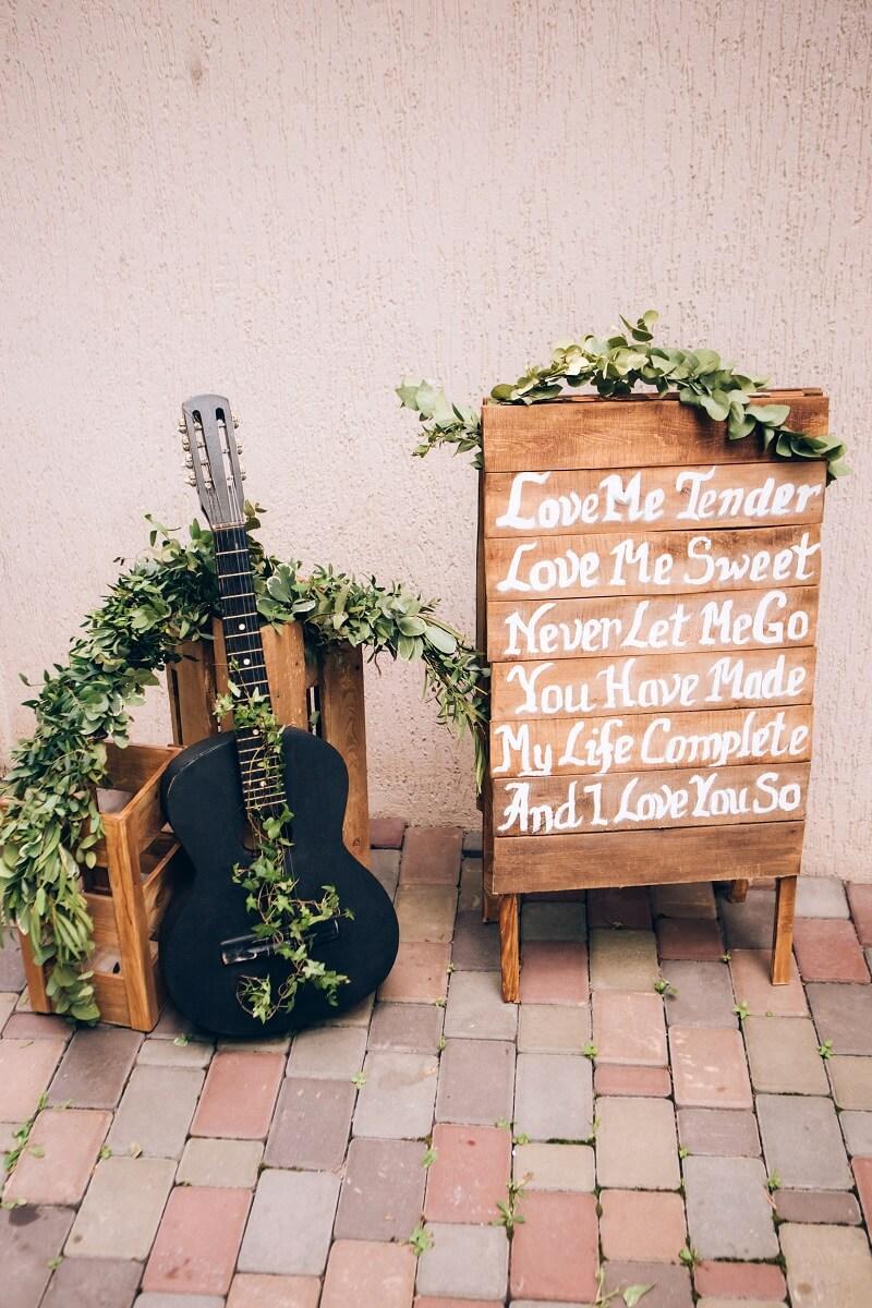 Hochzeitsspruch, Hochzeitsschild