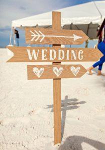 Hochzeitsschild Wegweiser