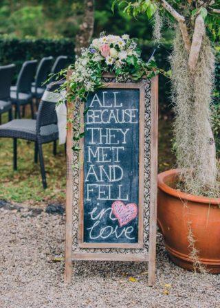 Schild Hochzeitsspruch