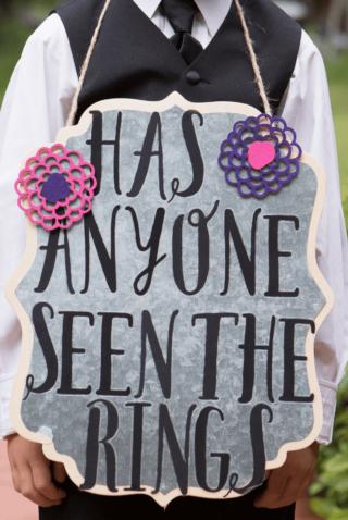 Hochzeitsschild lustig, Trauung, Ringträgerr