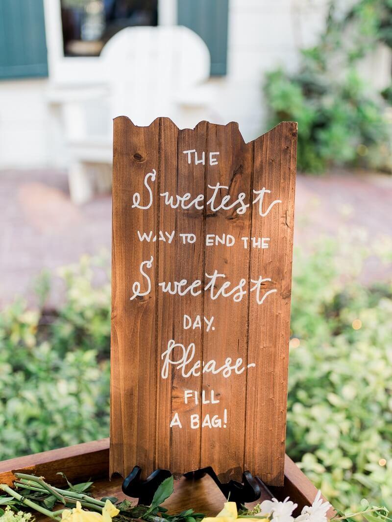 Schild Candy Bar Hochzeit