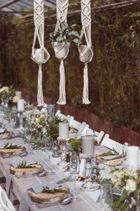 Makramee Hochzeitsdeko, Tischdeko Boho