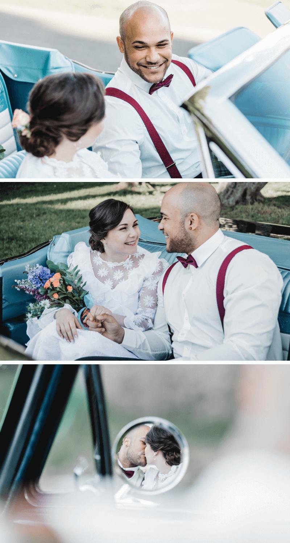 Hochzeitsfotos Brautpaar, Fotos Hochzeitsauto