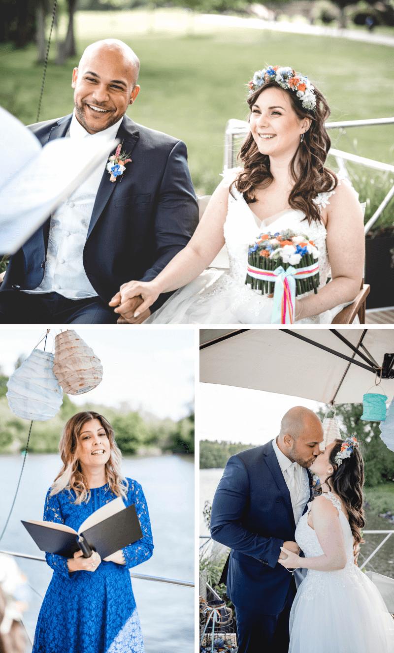 Hochzeit auf einem Boot