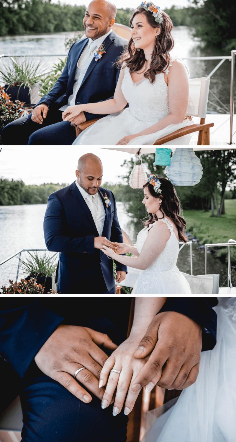 Heiraten auf einem Boot, Trauung