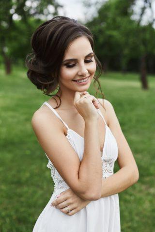 Brautfrisur seitlich Dutt