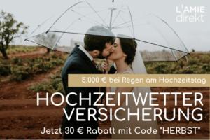 Hochzeit im Regen Versicherung