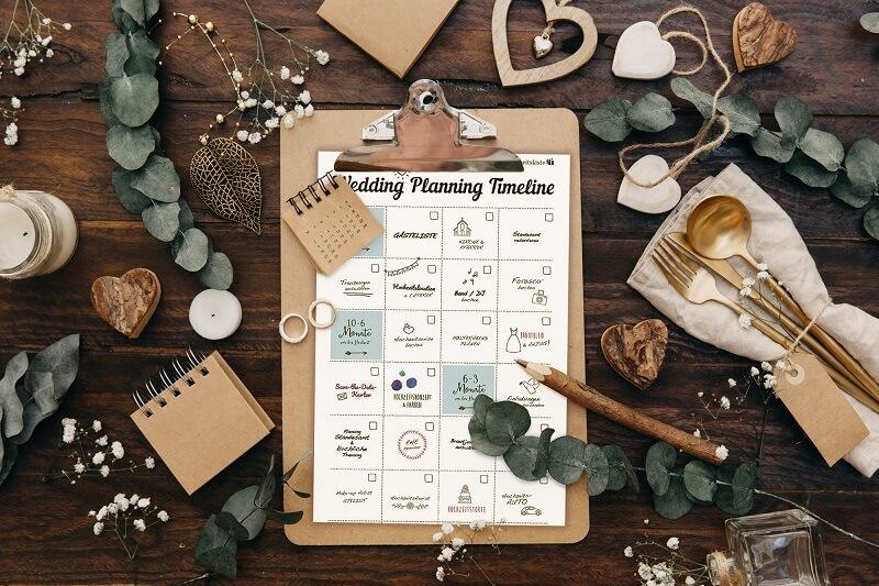 Checkliste Timeline Hochzeitsplanung
