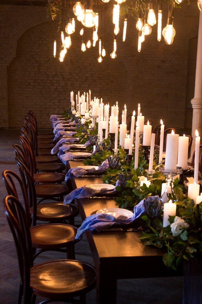 Tischdeko Hochzeit Kerzen