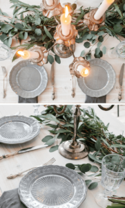 Tischgirlande grün Hochzeit