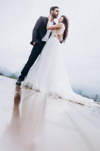 Hochzeitsfotos im Regen