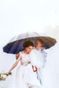 Hochzeitsfotos Regenschirm Ideen