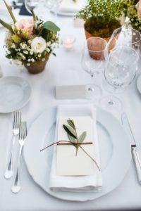 Platzdeko Hochzeit, Olivenzweig