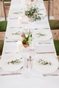 Hochzeit Tischdeko dezent