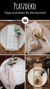Platzdeko Hochzeit Ideen