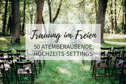 Trauung im Freien, Hochzeitsbogen Ideen, Trauung Deko Ideen