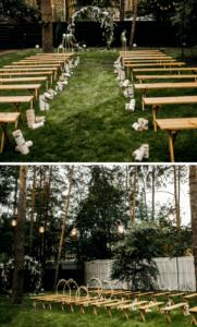 rustikale Hochzeit, Trauung draußen