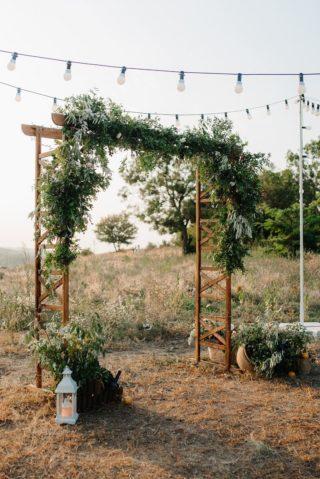 Trauung Outdoor Hochzeit, Hochzeitsbogen grün
