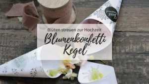 Blumenkonfetti Kegel DIY