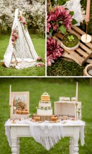 Vintage Boho Hochzeitsideen
