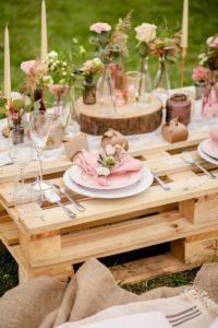 Boho Vintage Tischdeko Hochzeit