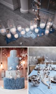 Hochzeitsdeko Herbst mit Baumwolle