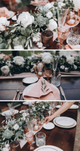 Tischdeko mit Girlande und Baumwollknospen