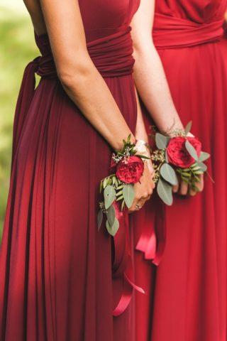 Brautjungfernkleider rot, Hochzeit rot