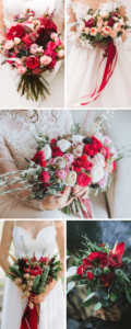Brautstrauß rot, Hochzeitsblumen in Rot