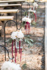 Blumendeko für die Trauung