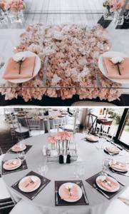 Hochzeit Rosen, Hochzeitsdeko mit Rosen, Tischdeko Rosen, Rosa Hochzeitsdeko