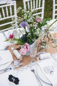 Tischdeko Vintage Hochzeit