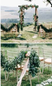 Hochzeitsdeko Trauung, Traubogen grün
