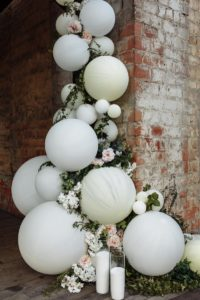 Ballongirlande Hochzeit, Floral Balloons
