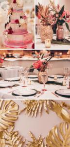 Hochzeit pink exotisch
