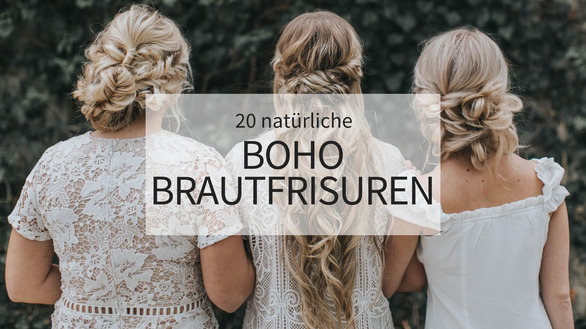 12 natürliche Boho Brautfrisuren - Hochzeitskiste