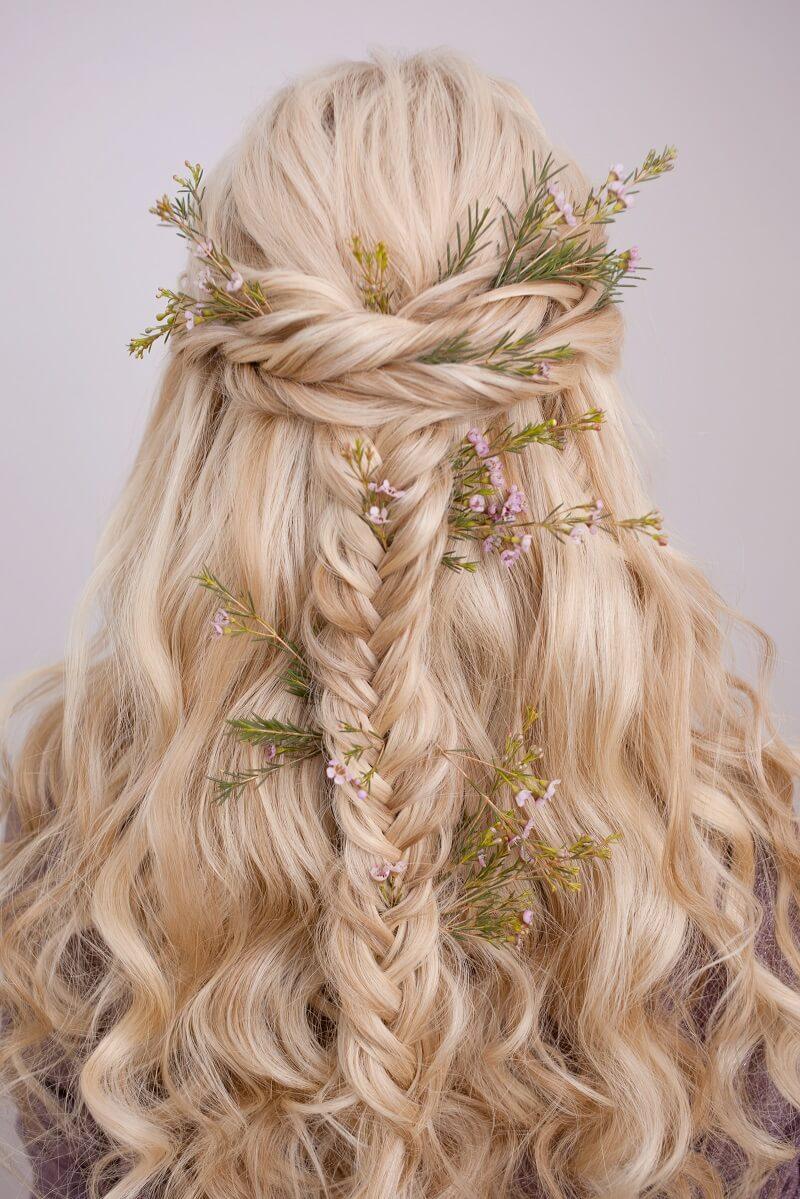 Boho Braut Frisur halboffen