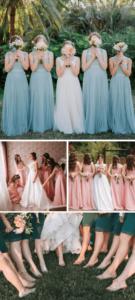 Gruppenfoto mit Brautjungfern