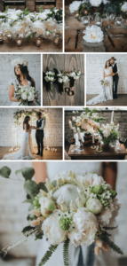 Hochzeitsdeko Grün und Weiß