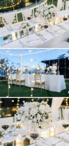 Hochzeit Tischdeko weiß elegant